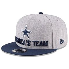 promo code 6ac8b ab14c Dallas Cowboys New Era Youth 2018 NFL Draft Official On-Stage Snapback  Adjustable Hat – Heather Gray Navy