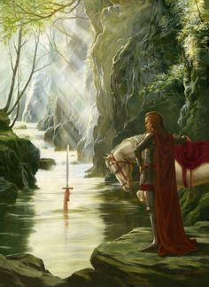 Excalibur (The return of Excalibur to the Lady of the Lake) by Alan Lathwell, June 2007