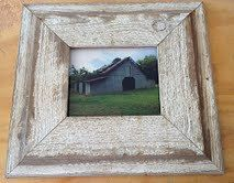 old barn wood picture frame shabby chic 8 x 10 picture frame from reclaimed barn