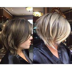 """1,176 curtidas, 31 comentários - C O S T A T T O (@costatto) no Instagram: """"#antesedepois Blond by Coss com pontos de luz bege-pérola. E esse corte amores?!  Quem disse que…"""""""