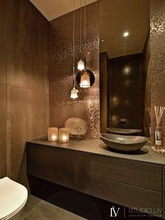 Bathroom Design Luxury, Home Interior Design, Interior Styling, Beautiful Houses Inside, Powder Room Decor, Bathroom Design Inspiration, House Inside, Bathroom Toilets, Bathroom Layout