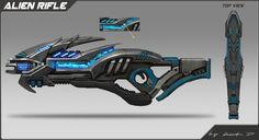 ArtStation - Alien guns concept, Rock D