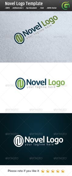 Novel Logo — Photoshop PSD #icon #oval • Available here → https://graphicriver.net/item/novel-logo/5954060?ref=pxcr