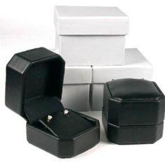 3 Black Leather Earring