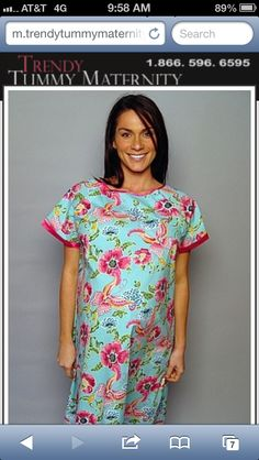 Trendy Tummy Hospital Gown  http://m.trendytummymaternity.com/maternity-hospital-gowns.html
