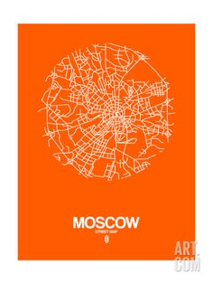 NaxArt-Moscow Street Map Orange