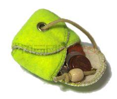 Sooo fun! Recycled Tennis Ball Mini Bag/ Change Holder 2 by MANIkordstudio on Etsy