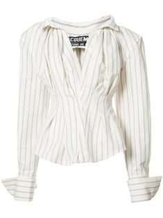 Jacquemus ストライプ柄 オーバーサイズシャツ
