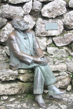 This is a statue of Antoni Gaudi in the garden of El Capricho, a beautiful house he designed in Comillas, Northern Spain.