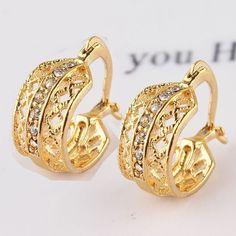 2014 Hot Selling Leaf Shape New Jewelry 18k Gold Plated Austrian Crystal Earrings For Women Party Daily Wear Jewelry Accessories