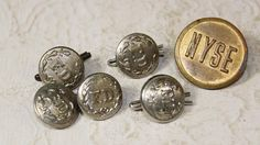 Vintage Waterbury NYSE and Fire Department Buttons by jamiesmomma, $3.50
