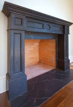 Crazy Tips: Tall Fireplace Tile fireplace romantic mantles.Antique Black Fireplace concrete fireplace how to build. Painted Fireplace Mantels, Paint Fireplace, Concrete Fireplace, Home Fireplace, Faux Fireplace, Fireplace Remodel, Living Room With Fireplace, Fireplace Surrounds, Fireplace Design