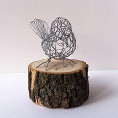 Wire Sculpture Bird B17_front