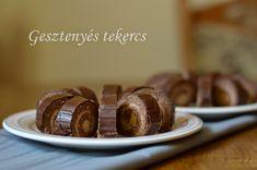 Gesztenyés tekercs 🍴 Baked Potato, Potatoes, Cookies, Baking, Cake, Ethnic Recipes, Food, Christmas, Crack Crackers