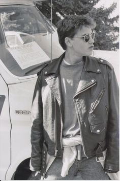 Corey Haim sunglasses & leather jacket as a teenager i was so in love with him!