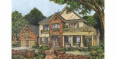 Four Bedroom New American (HWBDO61268) | New American House Plan from BuilderHousePlans.com