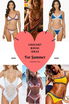 Try a trend that is sure to last. Swimsuit season is upon us and you will be the most confident person on the sand or by the pool. Sexy crochet bikinis are where it's at for Summertime! Diy Barefoot Sandals, Bare Foot Sandals, Diy Crochet, Crochet Bikini, Swimsuits, Bikinis, Swimwear, Boho Fashion, Fashion Outfits