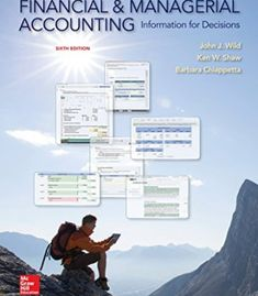 Financial and Managerial Accounting: Information for Decisions PDF