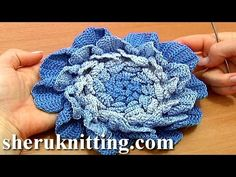 Crochet Large Layered Flower Tutorial 66 Part 1 of 3 Four Layer Center - YouTube