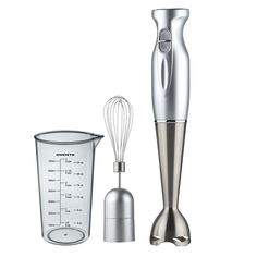 Ovente HS583S Robust Stainless Steel Immersion Hand Blender with Beaker and Whisk Attachment, Silver >>> For more information, visit image link.