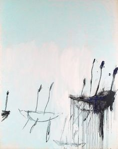 Cy Twombly. Three studies from the Temeraire, 1998-99, oil on canvas (triptych)