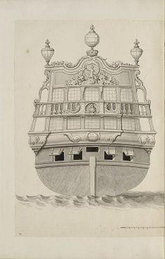 Jean Bérain (1640-1711) – Vaisseau: Le Fortuné – Paris, Musée du Louvre