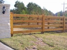 3 Board Fence with wire FENCING & GATES in 2019 Sheep