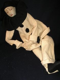Early Lenci Pierrot boudoir doll | Boudoir dolls, half dolls and more ...