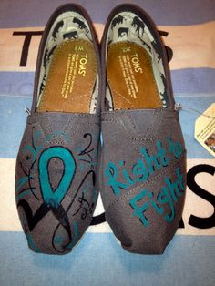 Ovarian Cancer Awareness Custom TOMS by UniquelySouledDesign, $94.00
