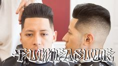 Heres my tutorial on cutting a pompadour with a skin fade with fiber…