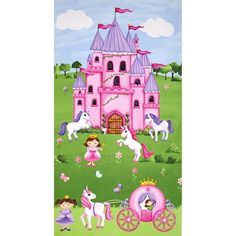 Little Princess Castle 23 In. Panel  Multi