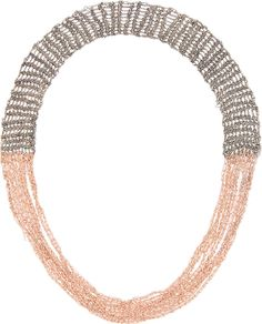 Arielle de Pinto - Rose Gold & Silver The Buxom Necklace | SSENSE