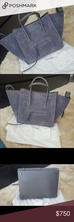 Genuine Suede Phantom Handbag Brand New! Gorgeous bag, Price through Google Wallet, paypal, etc Celine Bags Hobos