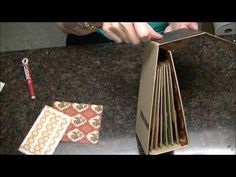 ▶ Mini Album Construction Tutorial for French Country album, Part 2 of 2 - YouTube
