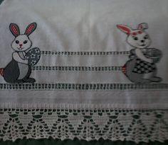 Pano-copa colagem bainha e crochet