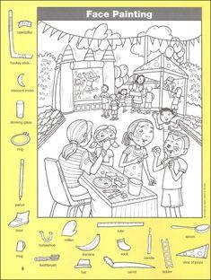 숨은그림찾기 책 샘플 14편 모음 : 네이버 블로그 Hidden Picture Games, Hidden Picture Puzzles, Hidden Object Puzzles, Hidden Objects, Kindergarten Language Arts, Kindergarten Activities, I Spy Games, Games For Kids, Hidden Pictures Printables