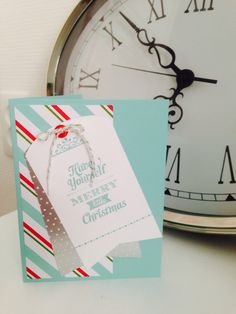 Christmas card with the simply created kit #card #christmas #stampinup #SU #inksandpieces