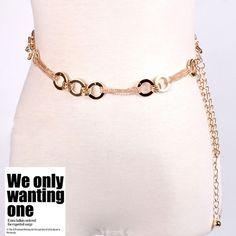 2016 новый модный золотой металлический круг талии платье пояс ремень для женщин дамы пояс аксессуары