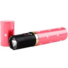 Lipstick Stun Flashlight Pink 3M <3 Love this!  http://www.absolutesecuritystore.com/lipstick-stun-gun-for-women.html repin