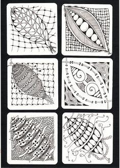 Same string 6 Zentangles