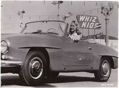 Actress #JoiLansing in a Mercedes Benz #190SL, apparently from a 1950's film…