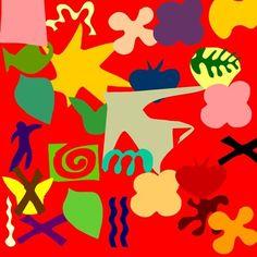 technology in art, kindergarten RT Digital Matisse collage