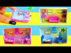 How to Make Miniature Matchbox Dollhouses Tutorial : Pool, Living-Room, Boy & Girl Bedrooms Doll House Crafts, Doll Crafts, Dollhouse Tutorials, Diy Dollhouse, Boy Girl Bedroom, Girl Bedrooms, Lalaloopsy, Easy Crafts For Kids, Diy And Crafts