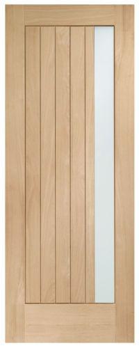 External Oak Wood Contemporary Modern Front Back Door Double Glazed Trieste M\u0026T