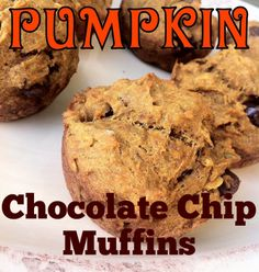 Pumpkin Chocolate Chip Muffins.....healthy and delish!