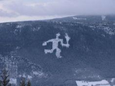 Lillehammer/ Hafjell, view to Fakkelmannen (torch man).