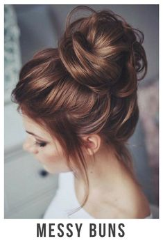 30+ Incredible Hairstyles for Thin Hair - Messy buns - BelliaBox