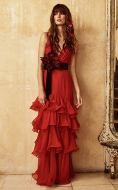 Doña Ana Silk Chiffon Dress by JOHANNA ORTIZ for Preorder on Moda Operandi