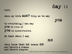 day 14 of The Prayer Manifesto for Moms