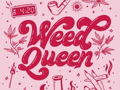 Calling all Weed Queens Who says you can't smoke weed and look cute as hell at the same time? You own that stoner life and make it chic as fuck. Let's break the stigma of cannabis culture behind a. Aesthetic Collage, Pink Aesthetic, Aesthetic Grunge, Rauch Tapete, Weed Wallpaper, Drugs Art, Stoner Art, Stoner Quotes, Psychedelic Art